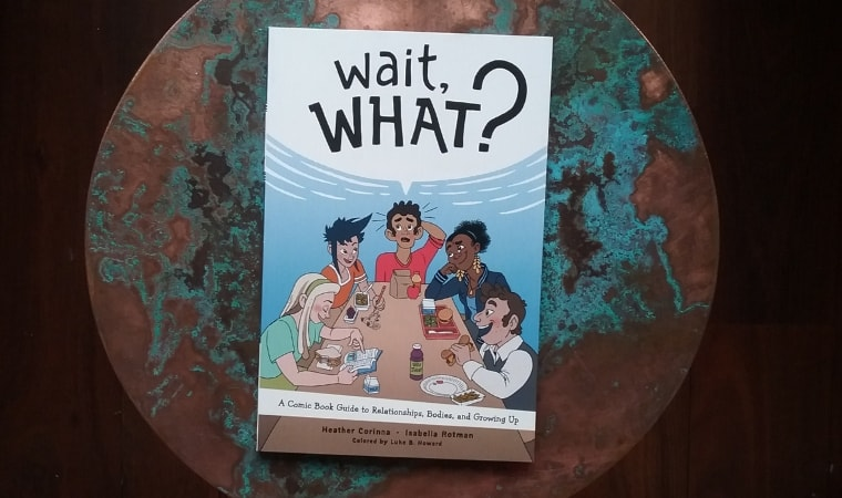 cover of wait, what? by heather corinna