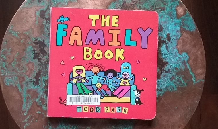 cover of the family book by todd parr