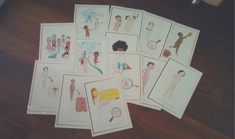 cover of Let's Look at Different Body Parts cards