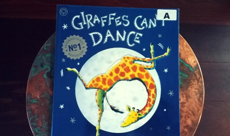 cover of Giraffes Can't Dance story