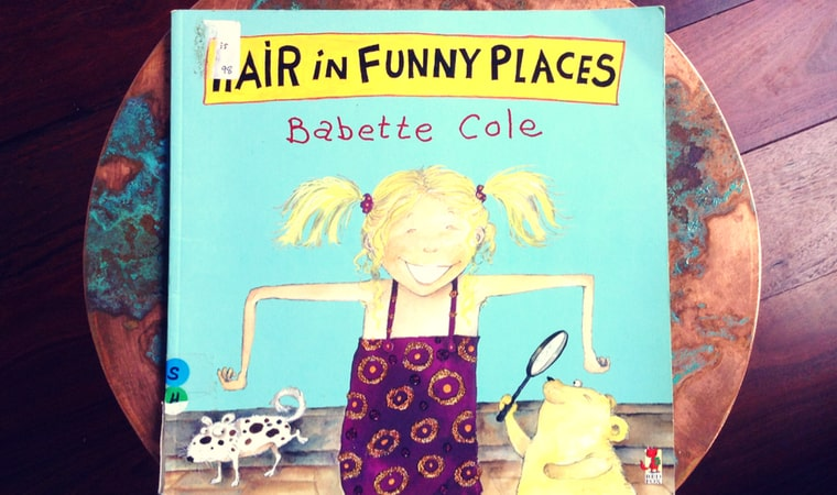 cover of Hair in Funny Places by Babette Cole