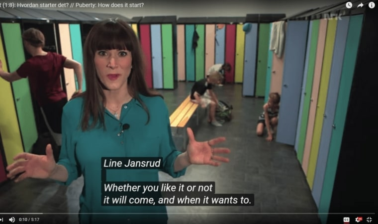 screenshot from Norwegian sex education show