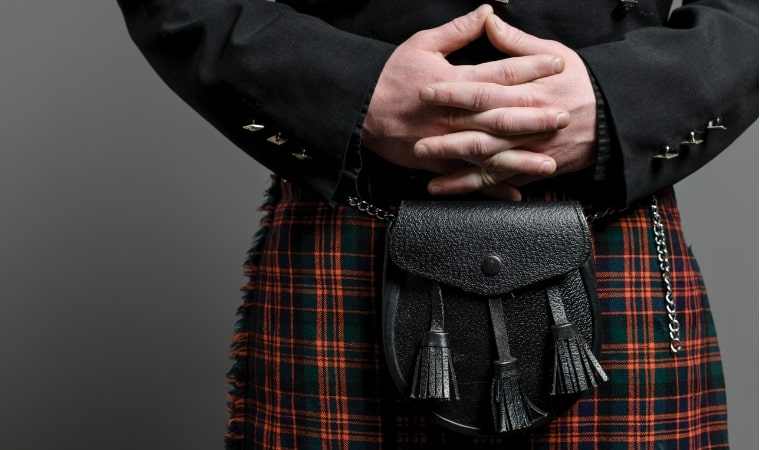 man in kilt for outlander sex education